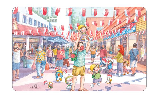Art to Inspire - Ah Guo EZ-Link Cards