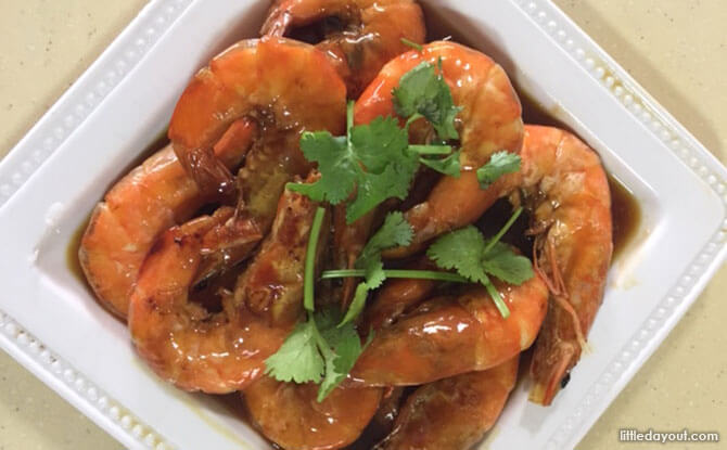 Simple Home-cooked Recipe: Prawns with Oyster Sauce