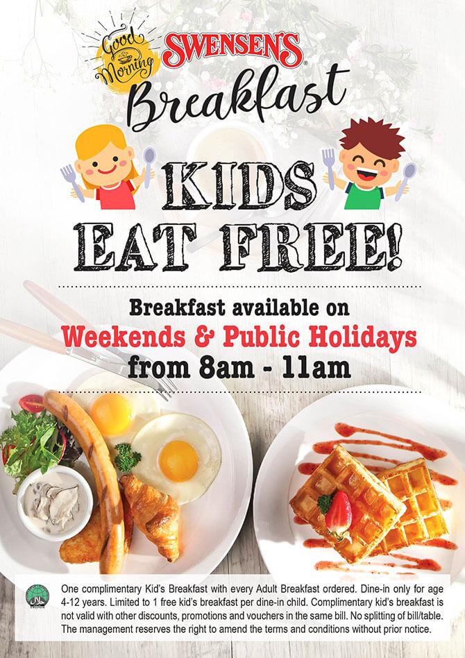 Swensens Kids Eat Free