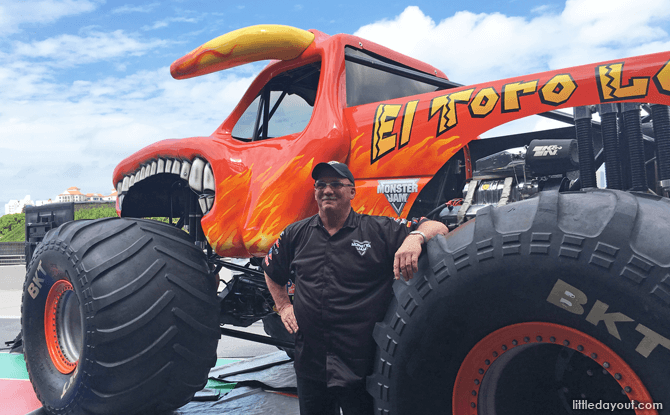 El Toro Loco Monster Truck with Driver Dan Evans