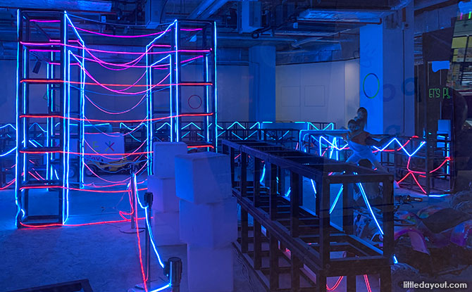 Ride an Indoor Neon-lit ATV Trail