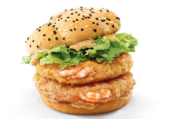 McDonald's Roasted Sesame Ebi Burger