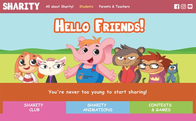 New Sharity Website
