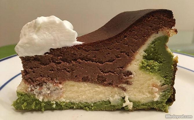 Triple-layered Burnt Cheesecake