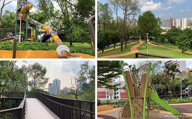 Bukit Batok Neighbourhood Park: 2 Playgrounds On The Hillside, Elevated Boardwalk & Summit Platform