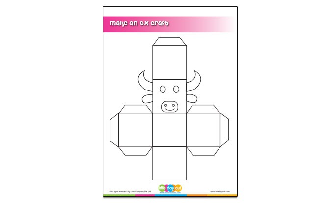 Make an Ox Chinese New Year Craft Template
