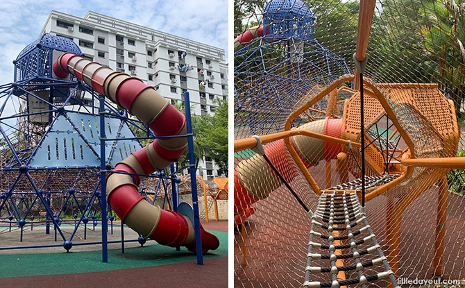 Circle Green Park: Massive Climbing Net Playground