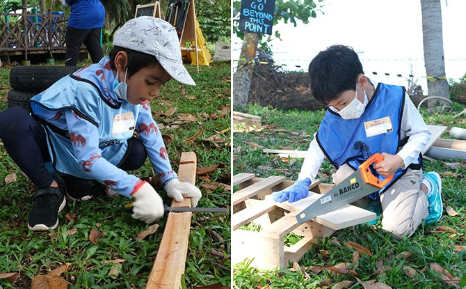 """ForestPlay Nature Adventure Playscape: Kids Get To Build & Collaborate With Hammers & Saws At A """"Junk Playground"""""""