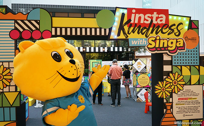InstaKindness with Singa Exhibition: Mini Singa Statues, UFO Machines And Ball Pit In The City
