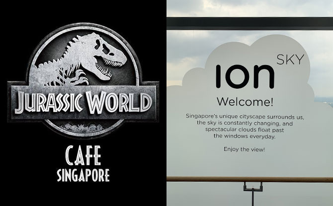 Jurassic World Café Singapore Is Coming To ION Sky From 6 Nov To 3 Jan