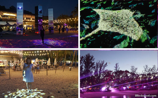 Interactive Siloso Beach Light Show