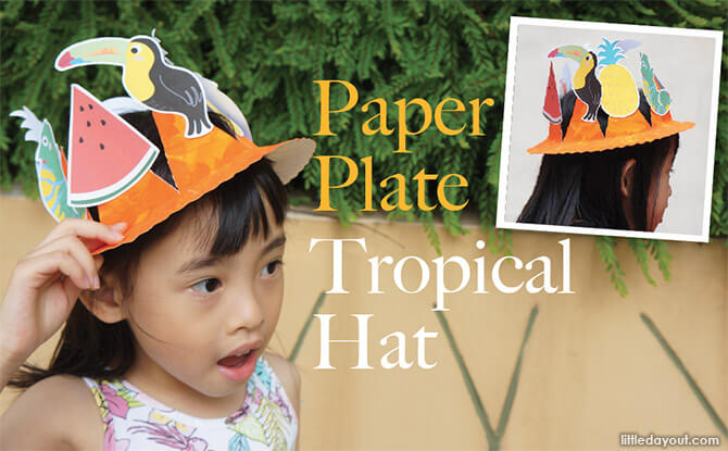 Paper Plate Tropical Hat Craft