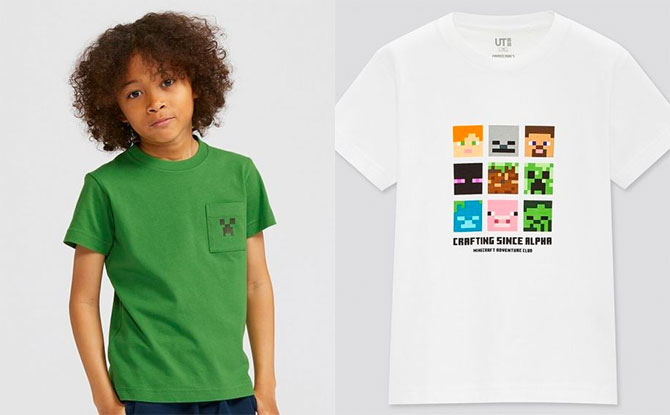 UNIQLO's Minecraft UTs Are Back In Stock So Kids Can Craft In Style