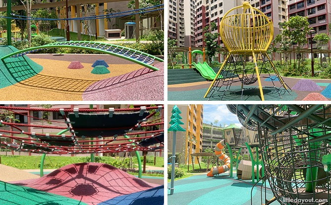 West Plains @ Bukit Batok Playground: Up And Down With Climbing Fun