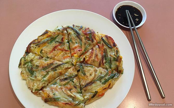 Home-cooked Recipe: Asian Leftovers Pancake - Korean 'Pajeon' Modified - Full Pancake