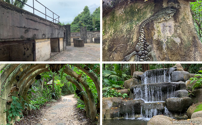 Mount Imbiah Trail and Nature Walk, Sentosa: Dragon Waterfall & WW2 Ruins