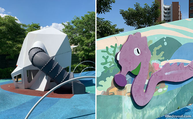 Tampines GreenEdge Playground: Meteorite Playspace & Wave Mural Wall