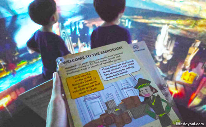 Family activity guide at An Old New World, National Museum of Singapore