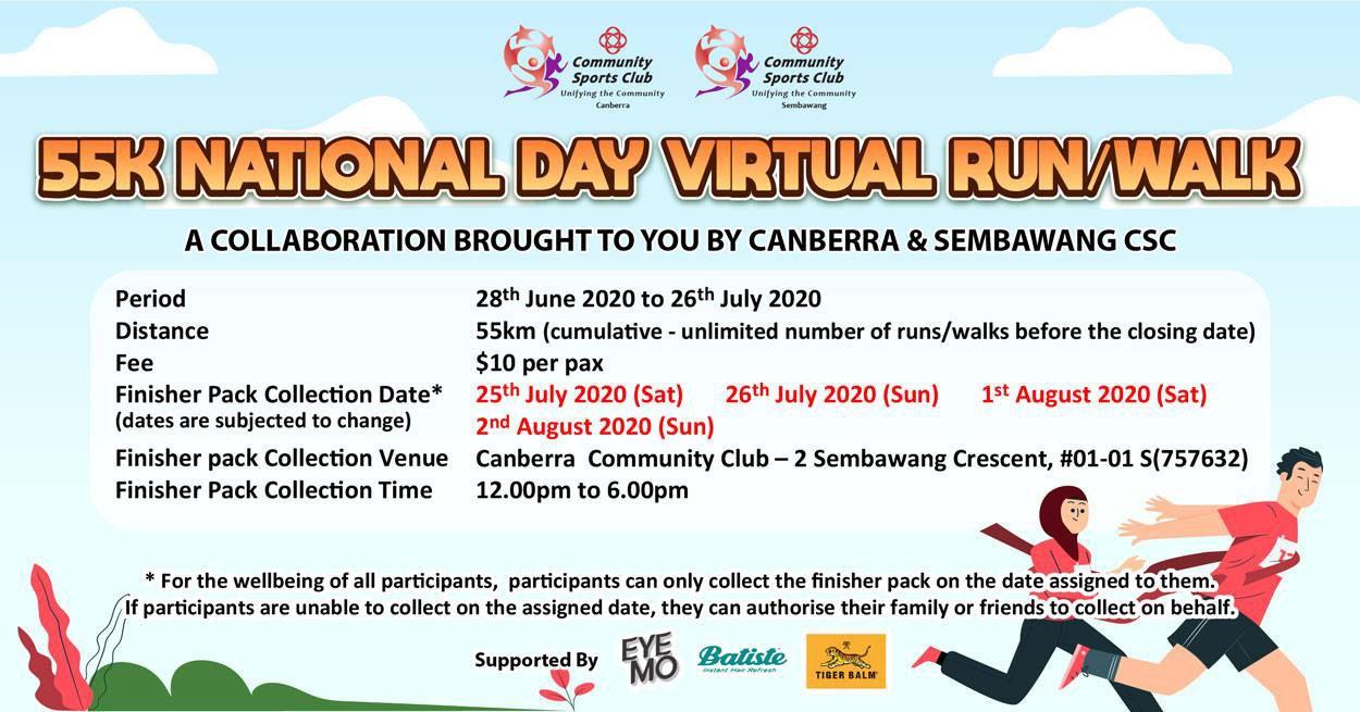 55K National Day Virtual Run / Walk