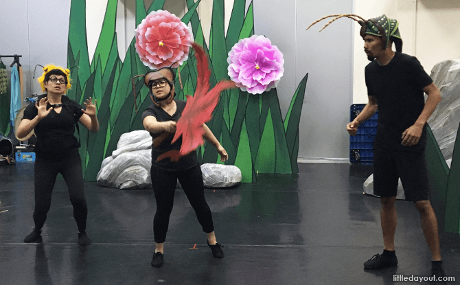 Rehearsal for The Ant and The Grasshopper
