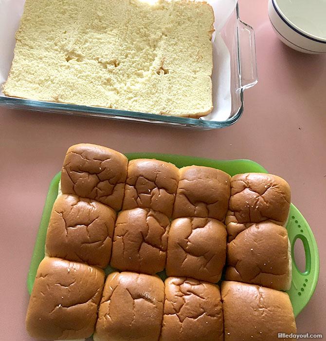 Dinner Rolls / Buns for Cheeseburger Sliders