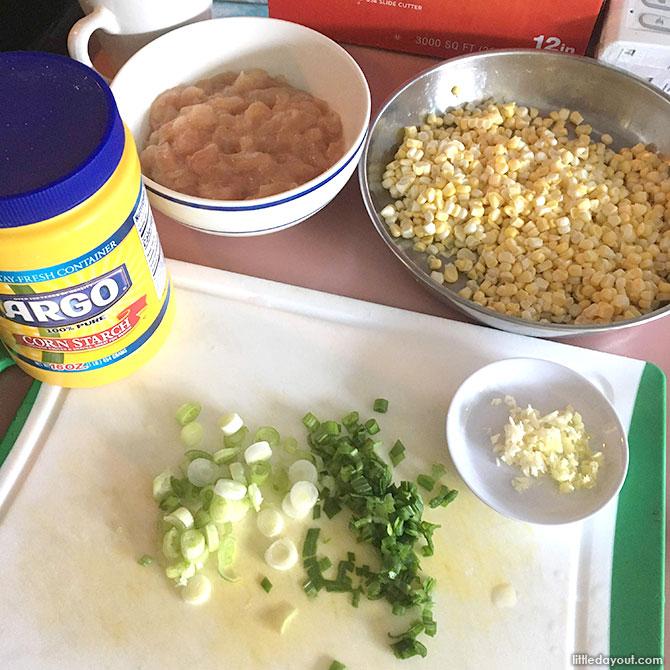 Creamy Corn with Chicken Ingredients