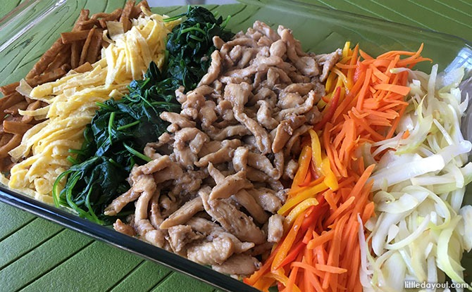 Korean Japchae (Mixed Veggies With Sweet Potato Noodles) - Ingredients
