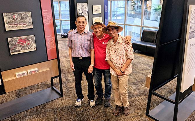 L to R - Steven Seow, Francis Teo, Tony Chua. Image: National Heritage Board