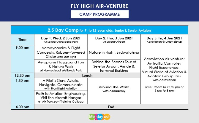 Little Day Out's Fly High Air-venture Camp Edition 3 Programme