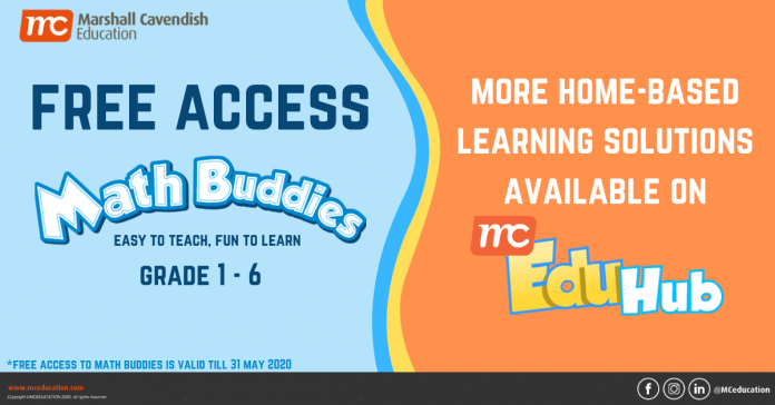 Marshall Cavendish - Singapore Maths Textbook Publisher Offers Free Access To Home-based Learning Resources with Math Buddies