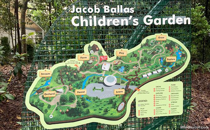 Map of Jacob Ballas Children's Garden