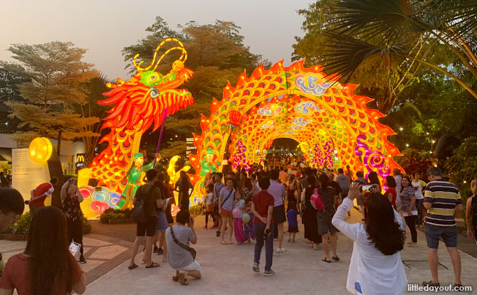 Dragon Dance lantern set welcomes visitors to Gardens by the Bay.