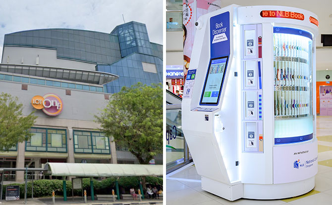 Book Dispenser At Choa Chu Kang: Browse And Borrow Books From NLB's Book Vending Machine