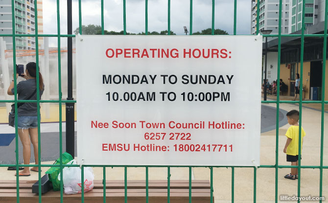 Oasis Waterpark @ Nee Soon East Community Water Park Opening Hours