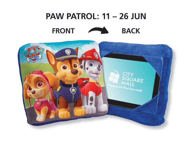 PAW Patrol Cushion Tablet-Holder, Redeem at City Square Mall in June 2017
