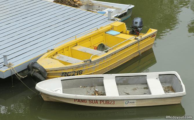 PUB's boats at Pang Sua Pond