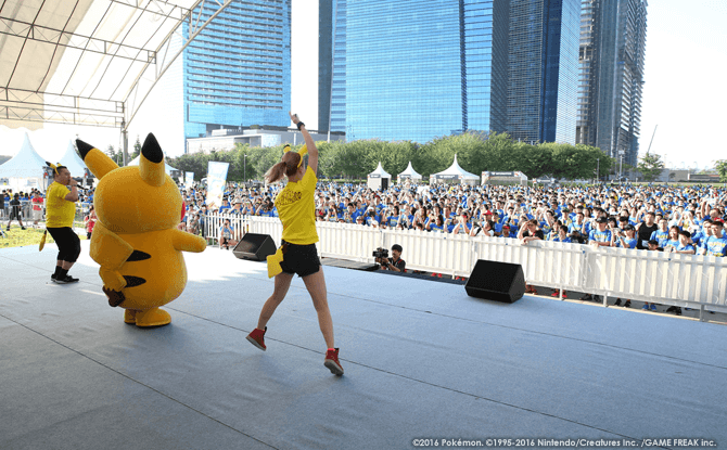 Warm ups with Pikachu