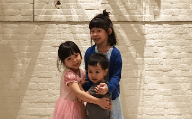 LDO Shop Author Jacqueline Zhang's son Reef with his cousins Renee and Sophie.