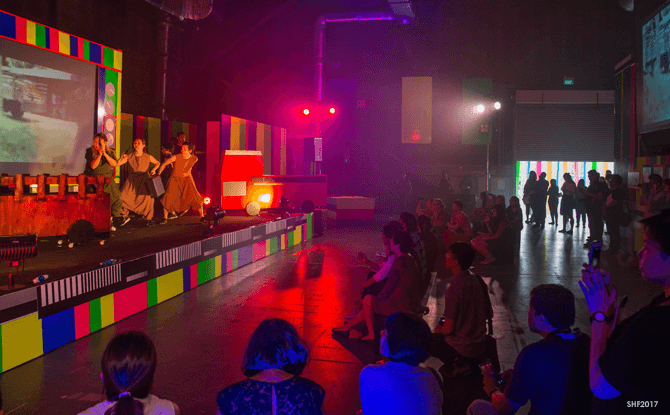 Audience watching a performance of Studio 6