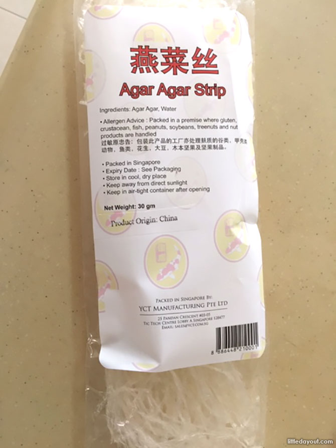 Almond Silken Tofu Pudding - Agar Agar Strips