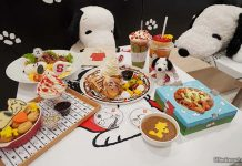 Food at Snoopy Cafe