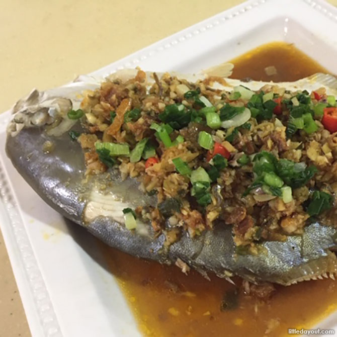 Steamed Fish with XO Sauce
