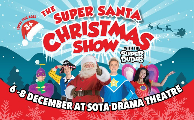 Have Super-Duper Fun At The Super Santa Christmas Show With Stevie And The Superdudes In December