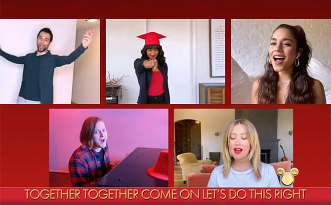 The Original Cast Of High School Musical Reunites In Disney Family Singalong
