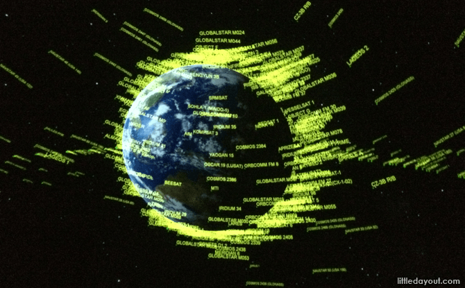 Earth on the Digital Planetarium screen