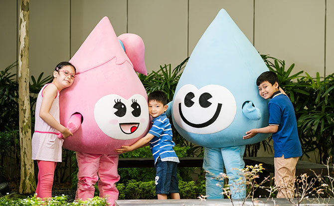 Water Sally, PUB's New Mascot, Spreads The Message About Water Sustainability & Water-Themed Kids Club