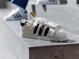 LEGO & adidas collaborate on new Superstar Sneaker Brick Model