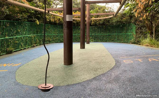 Zipline at Admiralty Park Playground