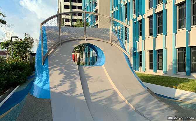 Slides at the Wave Playground - Alkaff Crescent playground