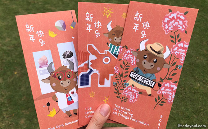 Museum Roundtable Hongbaos: Visit Singapore Museums To Collect Cute Year Of The Ox Red Packets